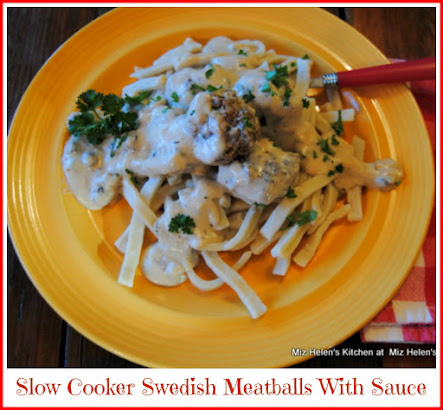 Slow Cooker Swedish Meatballs and Sauce