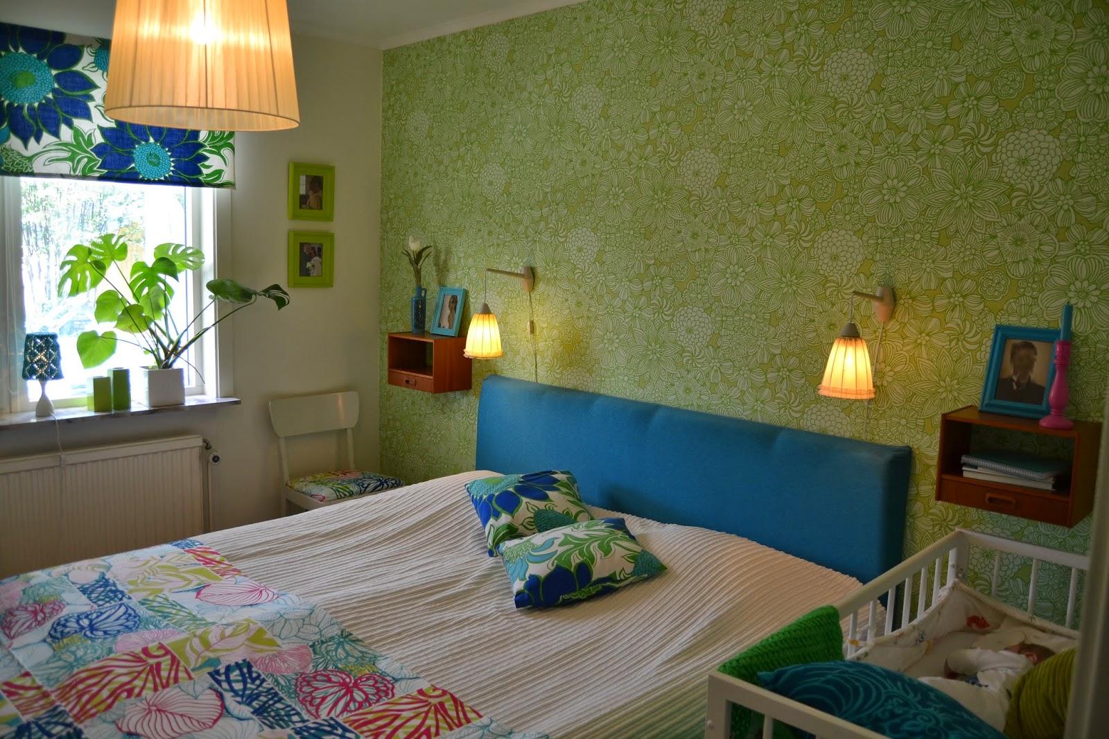 Välkommen till turkosare land: rofyllt färgglatt sovrum