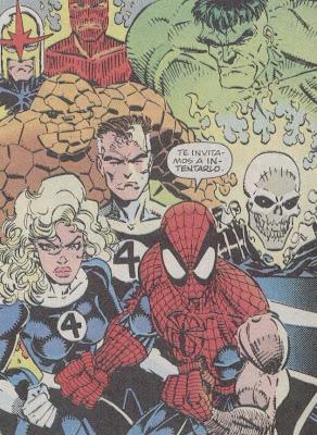 spiderman los 4F y alguno que pasaba por alli