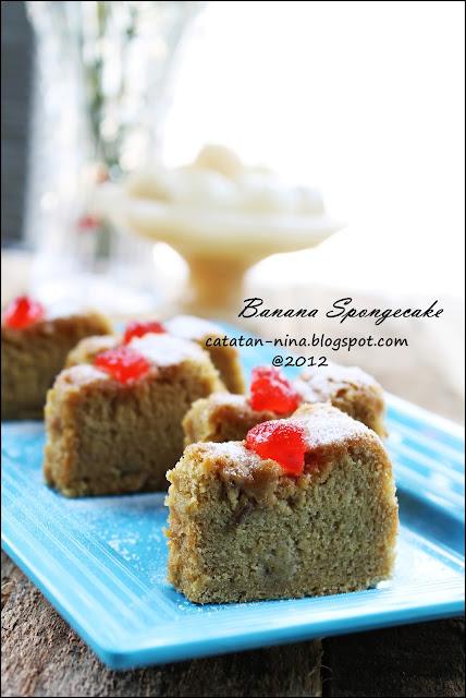 Banana Spongecake Catatan Nina Aneka Resep Masakan