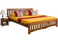 Buy Marko Queen Bed without Storage in Honey at Flat 60% off & 15% off:Buytoearn