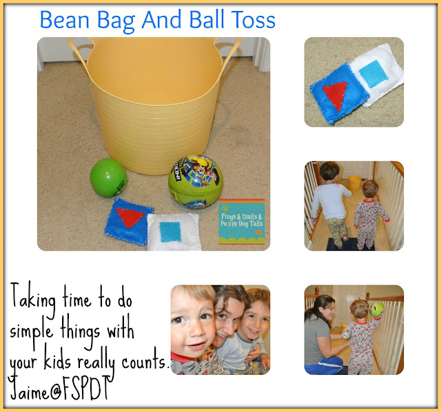 Ball and Bean Bag Toss- Classic Fun  {One of 100 Days of Play ideas for you}
