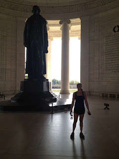 Running to Jefferson Memorial