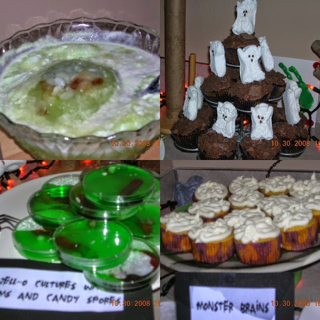 Mad Scientist's Lab Halloween Party food
