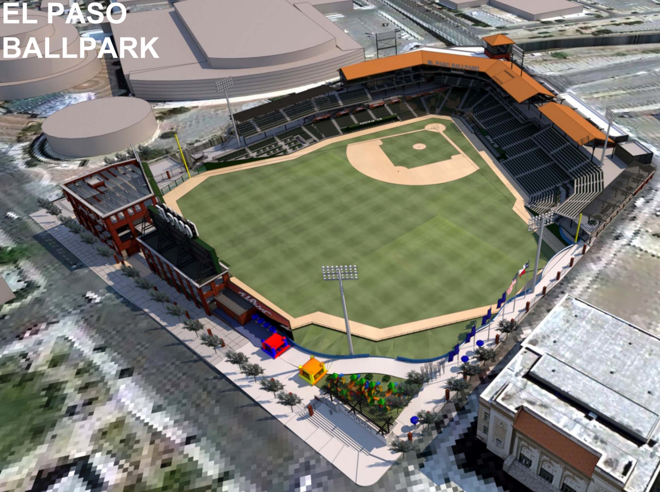 El Paso Development News See Newest Downtown Ballpark Designs