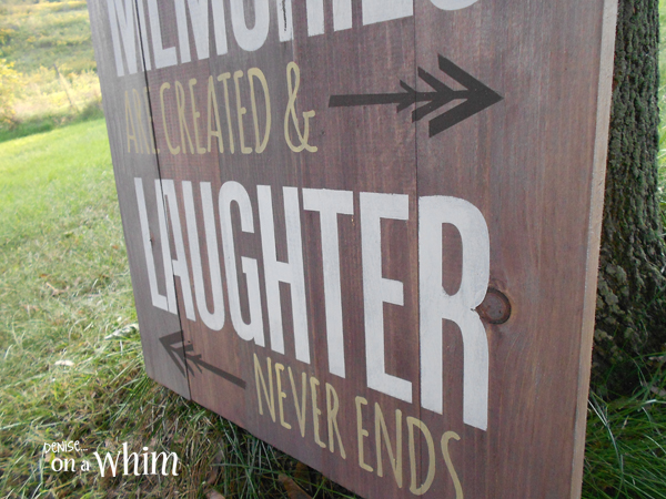 Wooden Sign with Home Quote in Chalk Paint from Denise on a Whim