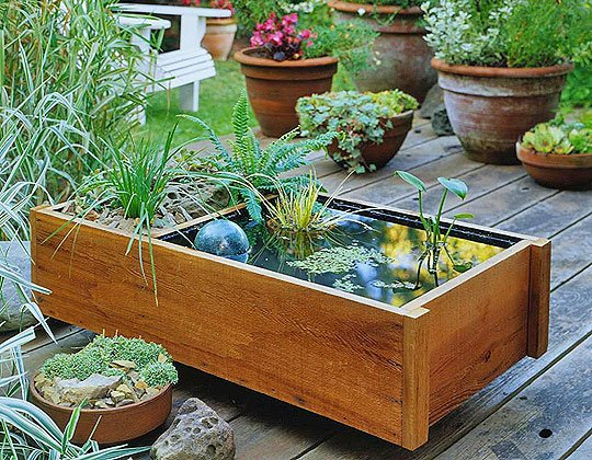 DIY Outdoor Water Garden