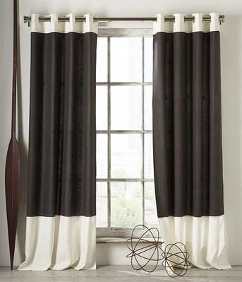 Home Interior Style: Black and White Kitchen Curtains