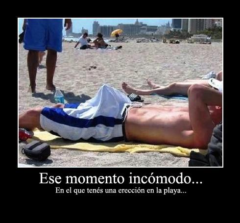 Meme Erección en la playa