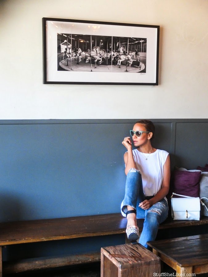 michael Stars, goldsign jeans, distressed denim, shoe dazzle, wedges, charlotte ronson, vogue eyewear, taye hansberry, style, blogger, top ten bloggers, best bloggers, best fashion bloggers, black fashion bloggers, ethnic fashion blogger, s