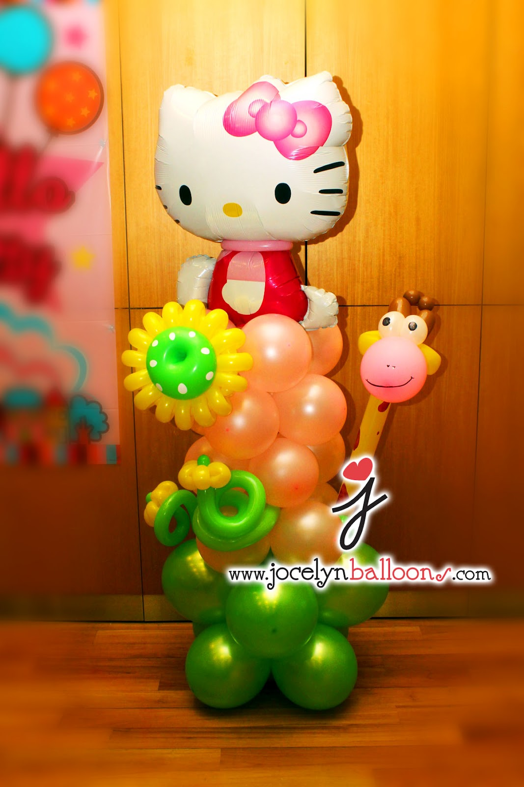 Jocelyn ng professional balloon artist blog balloon for Balloon column decoration
