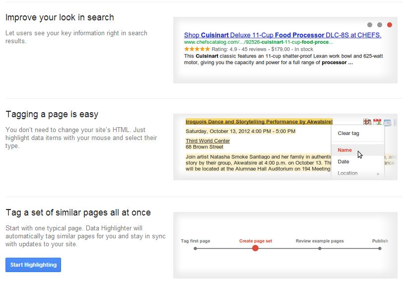 Data Highlighter di Google Webmaster Tools | MMufidLuthfi