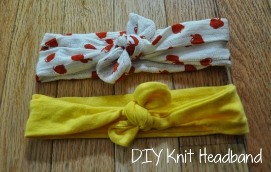 DIY knit headband
