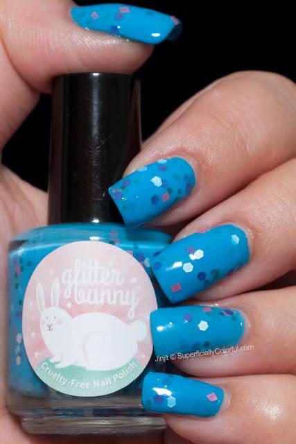 Glitter Bunny Polish Confetti Cake