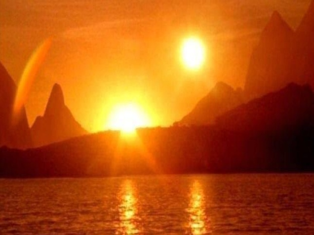 Gambar Dua Matahari Hanya Ilusi Optik
