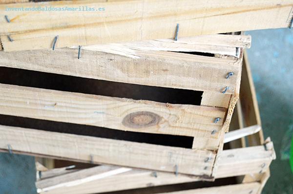 Decorar cajas de fruta de madera baldosas amarillas - Cajas de fruta de madera para decorar ...