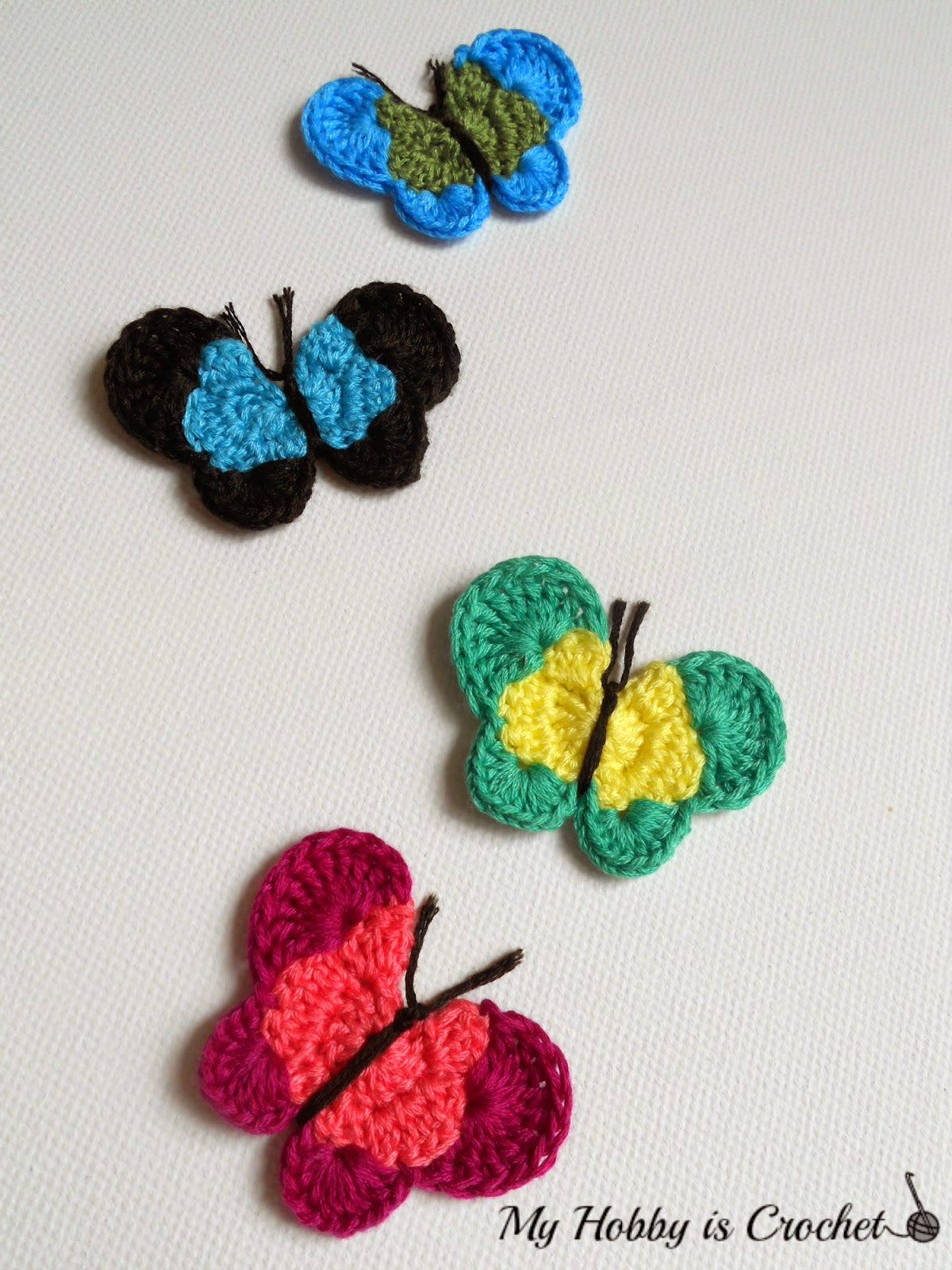 My Hobby Is Crochet: Crochet Butterfly Applique Free ...
