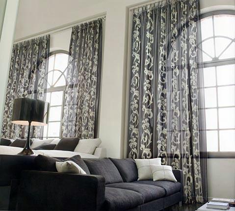 Modernas cortinas de interiores ideas para decorar - Cortina moderna ...