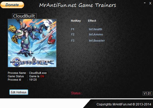 CloudBuilt V1.11 Trainer +3 MrAntiFun
