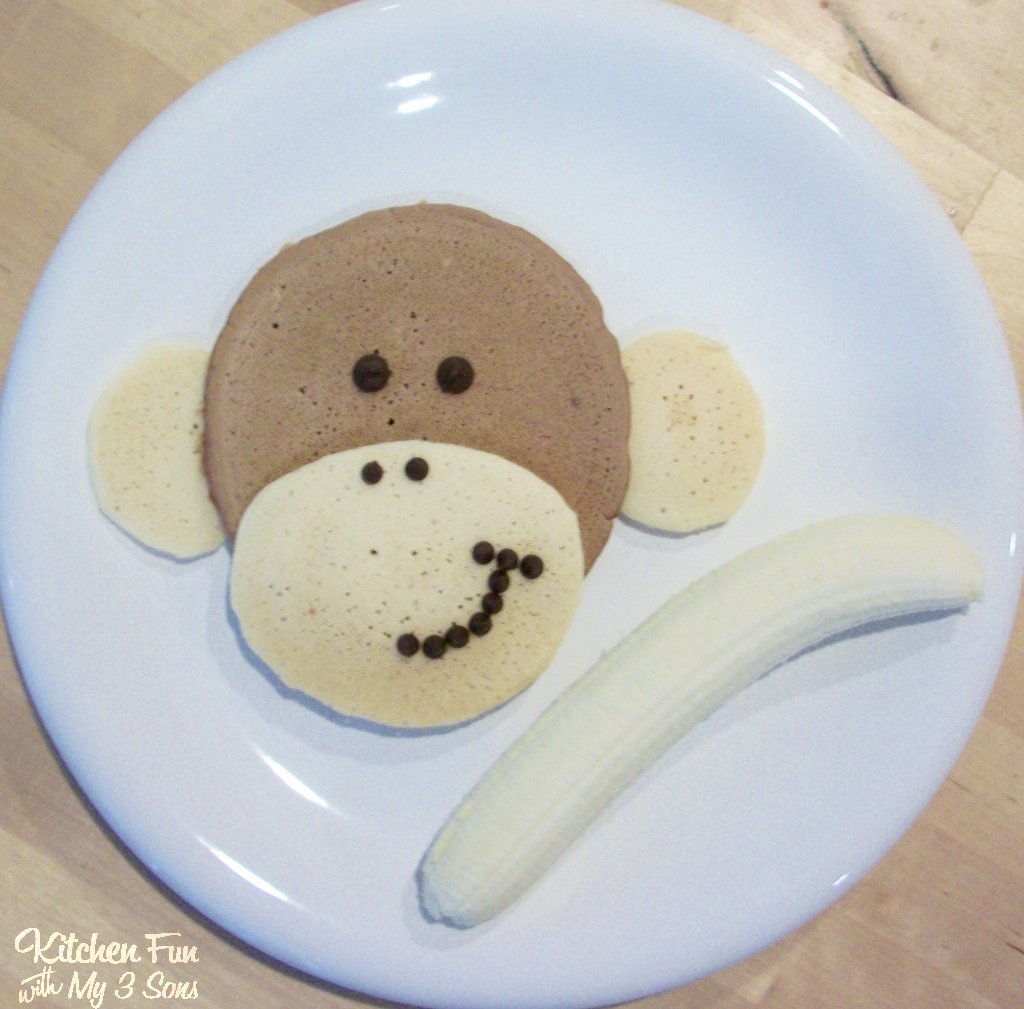 Monkey Pancakes with a Banana for Breakfast
