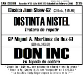 Todo A Ganador - San Isidro - 6/02 - GP Miguel A. Martinez de Hoz-G1 - DON INC en dura parada