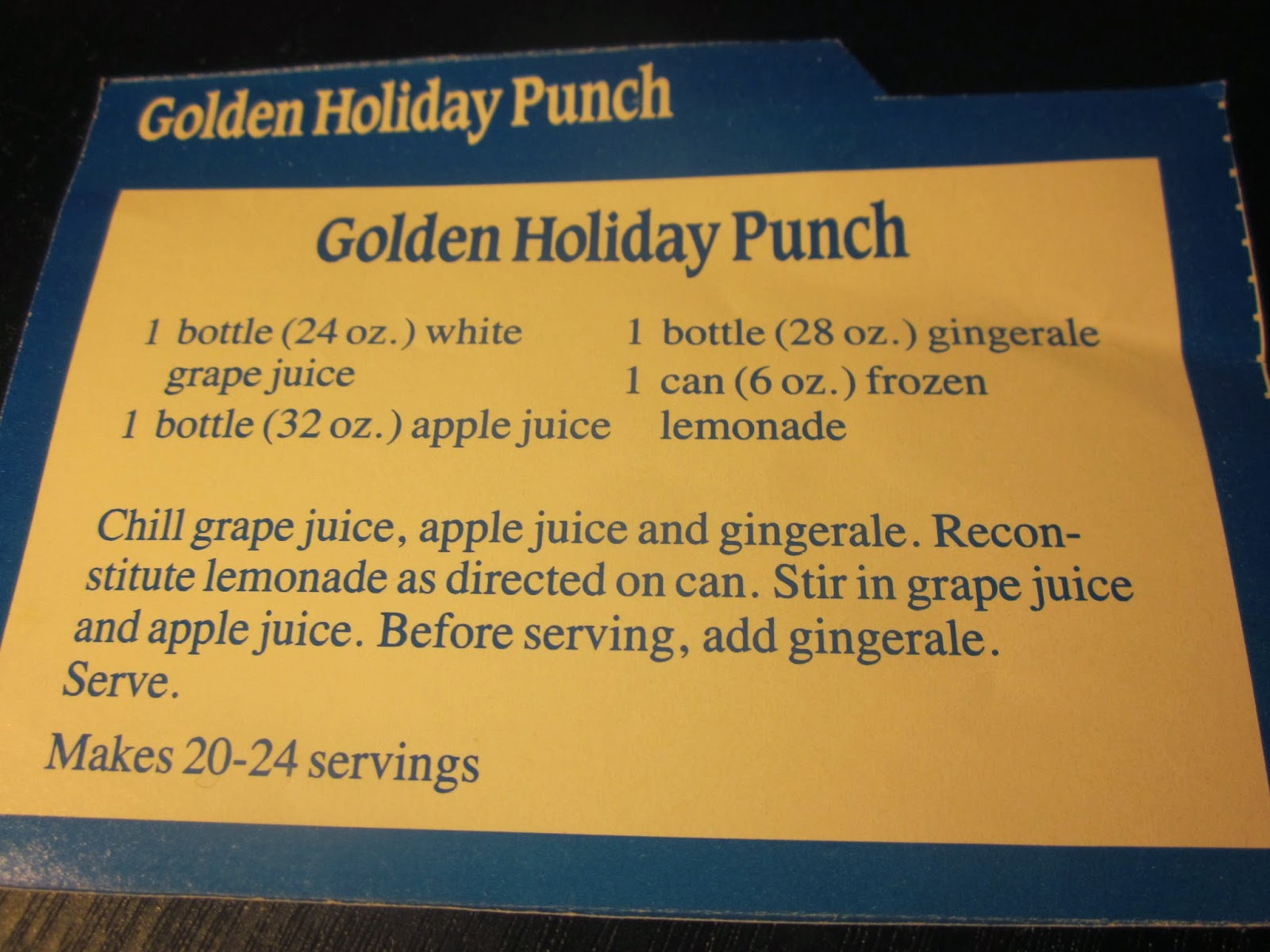 GOLDEN HOLIDAY PUNCH