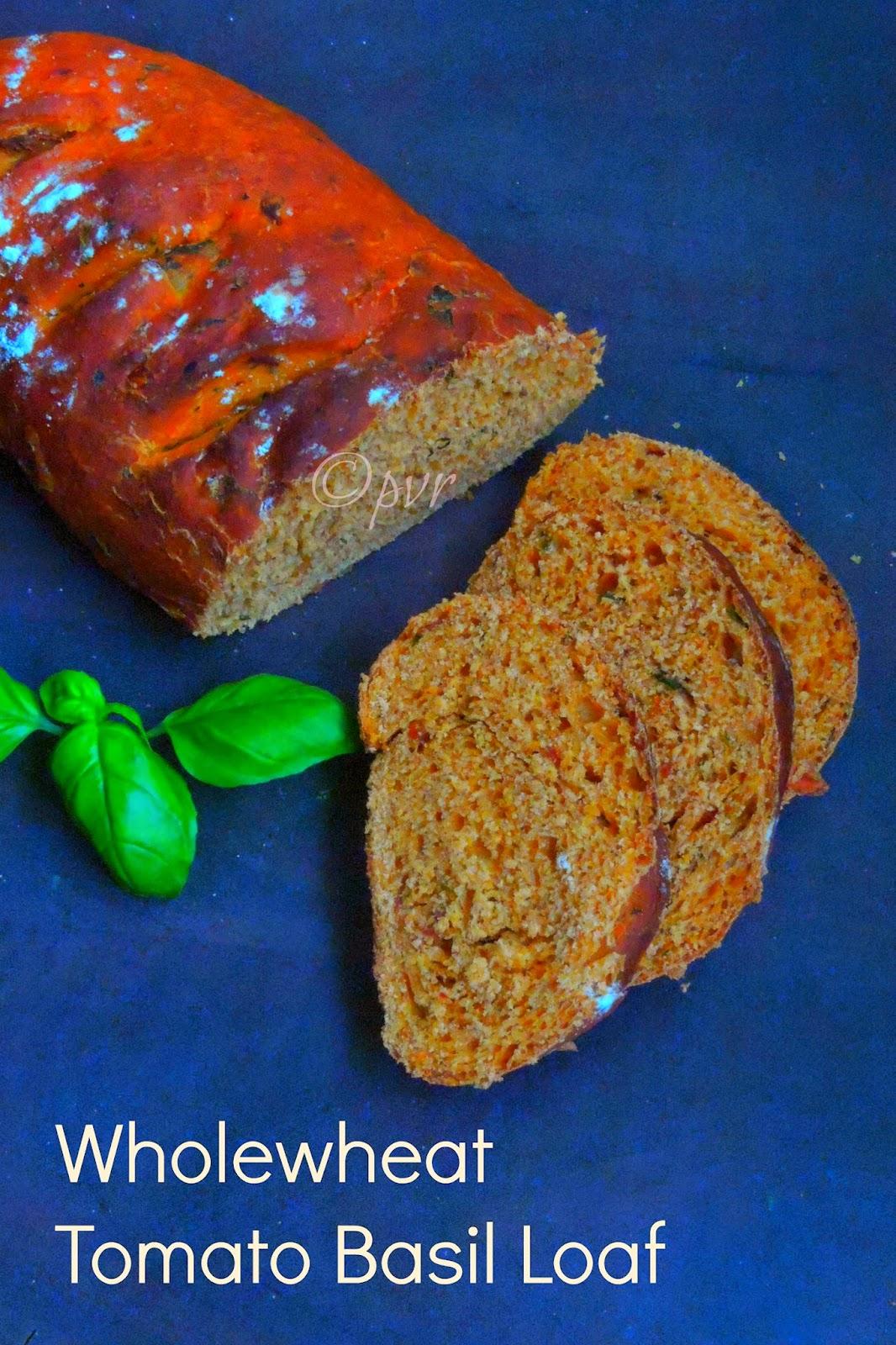 Vegan Wholewheat Tomato Basil Loaf