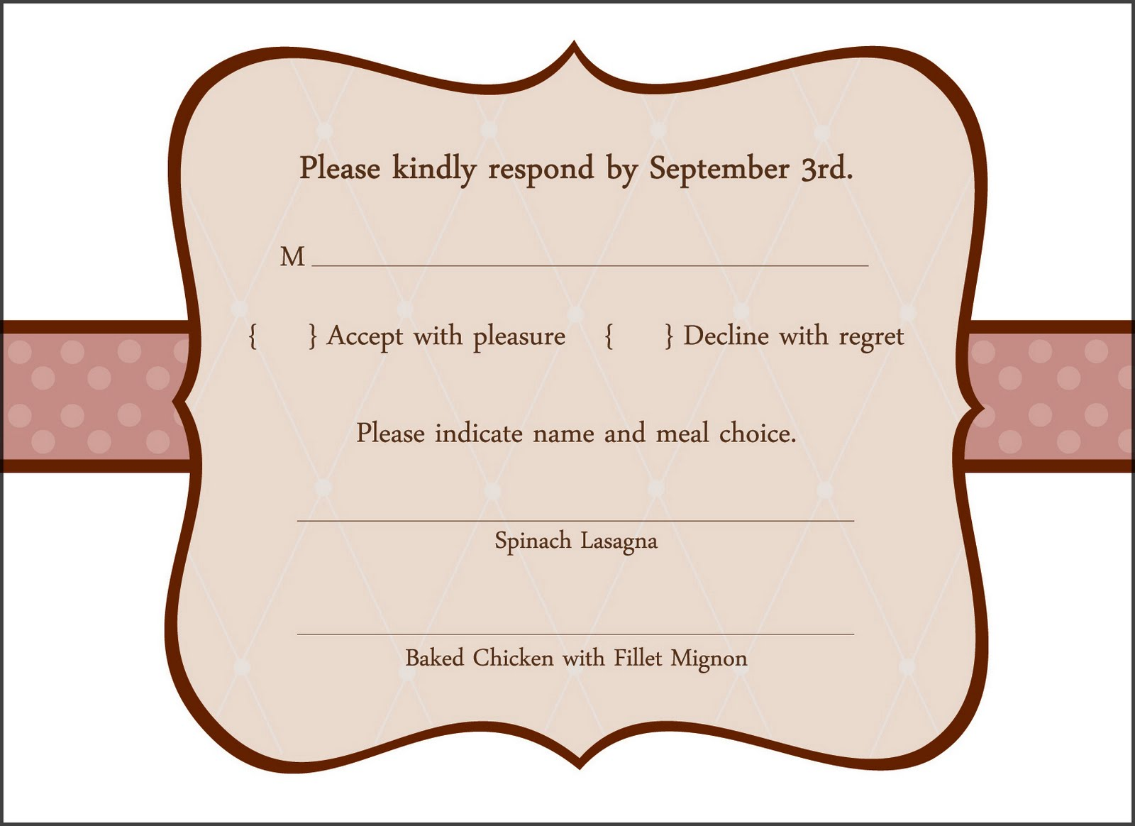 Ro Co. Creatives: Another wedding invitation with response card. The ...