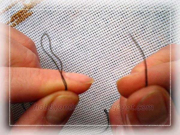 Вышивка крестом без узелков в 3 нити 43