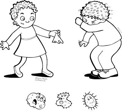 Germs colouring pages