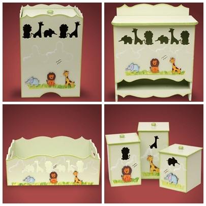 Kit higiene Zoologico 6 peças R$ 170,00