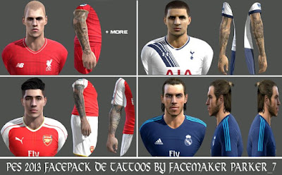 PES 2013 Facepack De Tattoos By Facemaker Parker_7
