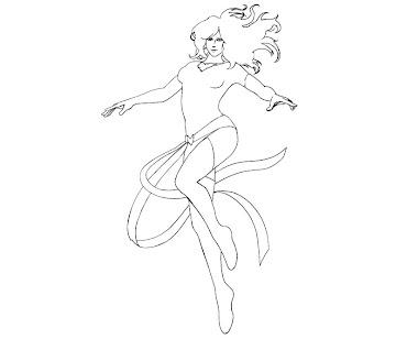 #6 Jean Grey Coloring Page