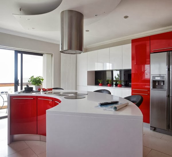 Modern kitchen design color red home inspirations for Contemporary kitchen colours