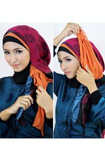 Tutorial hijab kombinasi unik 7 Tutorial Hijab Kombinasi Unik Untuk ke Pesta