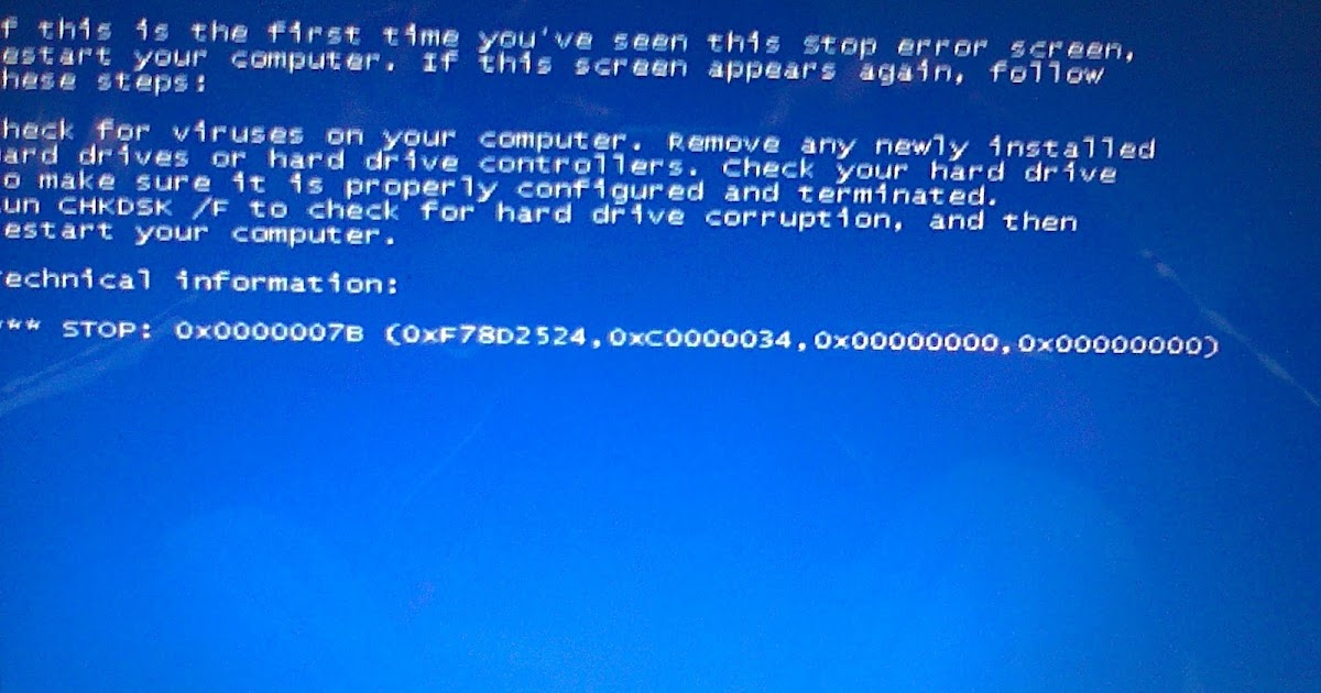 Fucker Computer 7 Cara Mengatasi STOP 0x0000007B 0xF78D2524 0xc000003