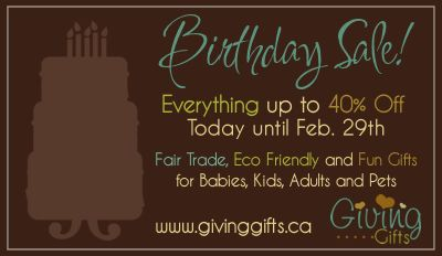 Giving Gifts Birthday Sale!