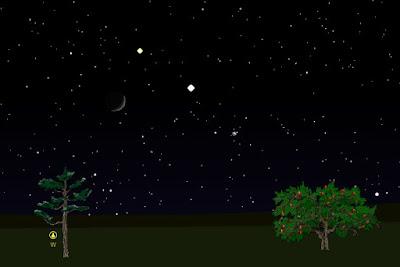 הירח נוגה וצדק בתאריך 20/6/2015 - סימולציה
