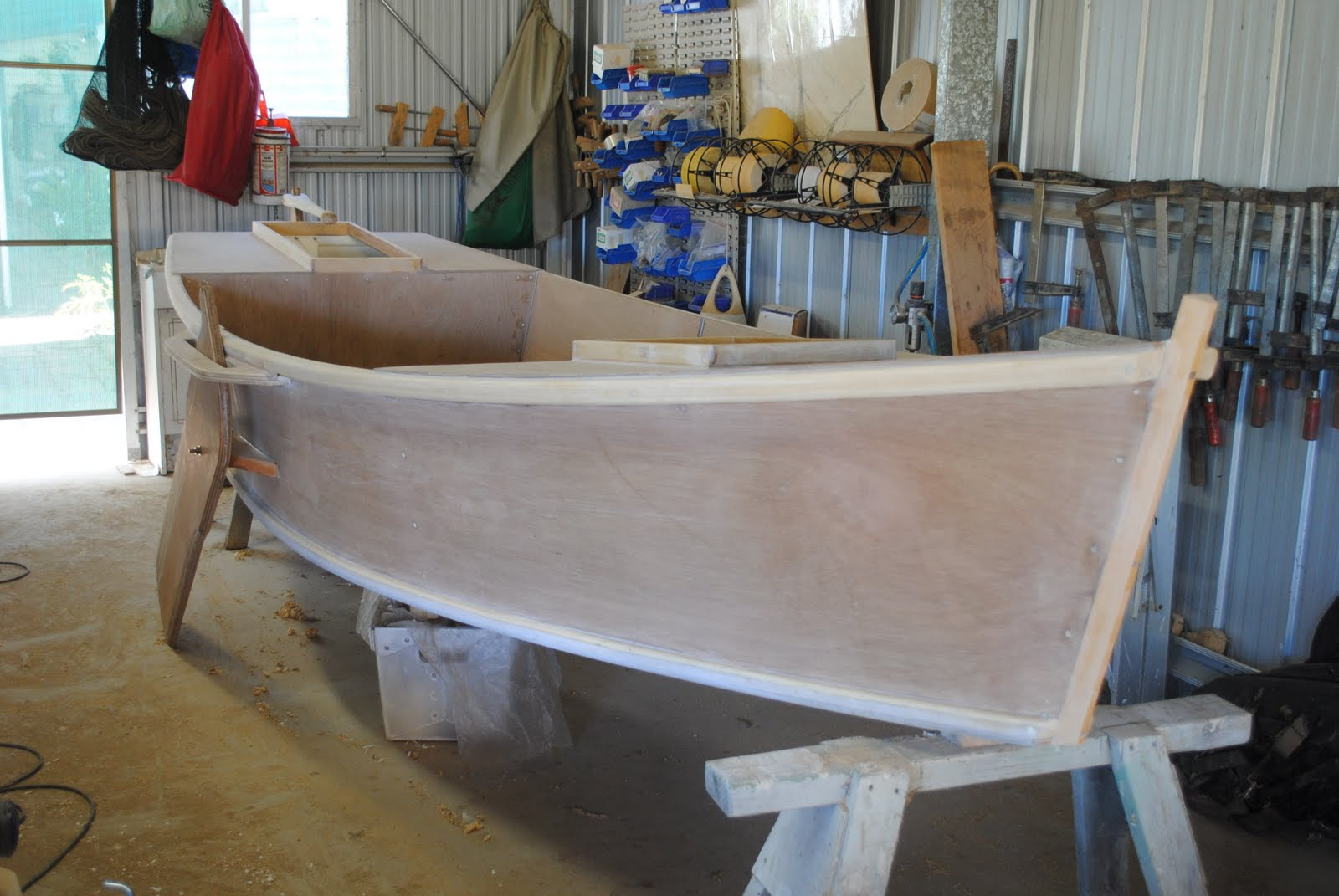 Gallery For > Plywood Poling Skiff