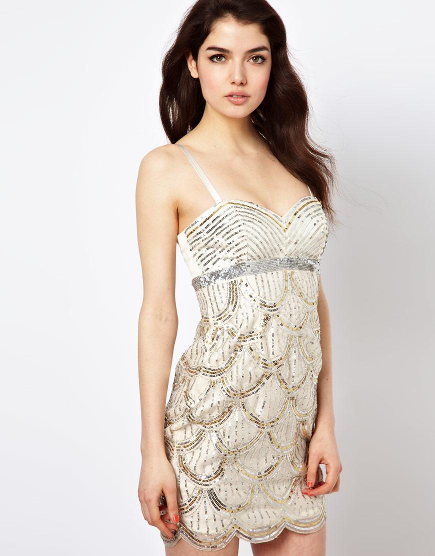 Lipsy VIP Scalloped Edge Sequin Dress, now £80.00