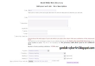 Cara mendaftar di W3-Directory