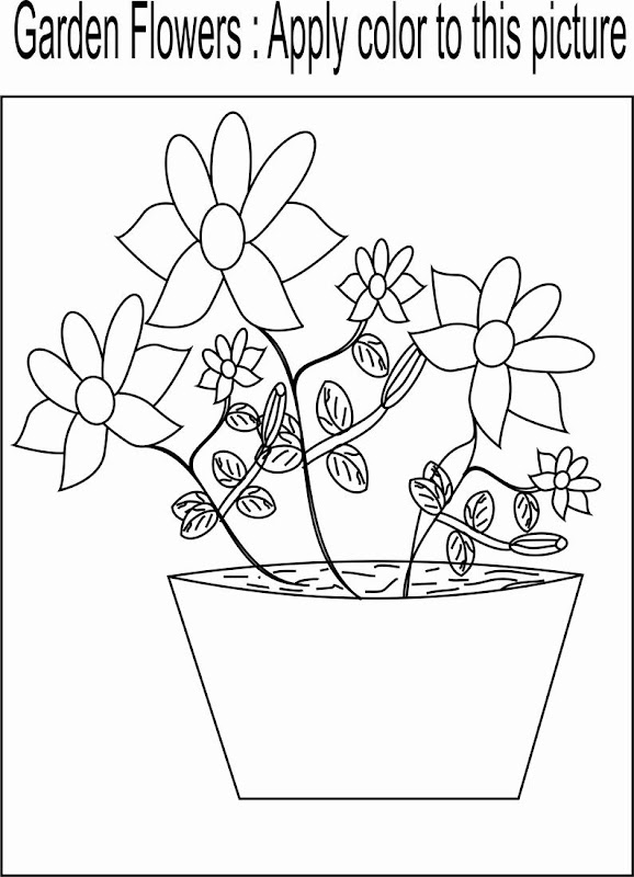 Beautiful Flower Coloring Pages title=