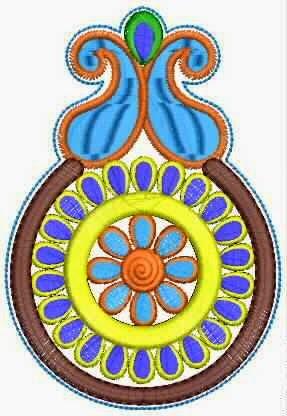 Embdesigntube vintage mexican folkloric floral applique designs - Appliques exterieures ontwerp ...