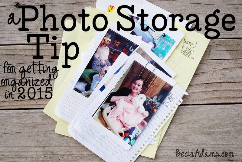 Photo storage tip by @jbckadams Becki Adams #scrapbooking #papercraft #photostorage