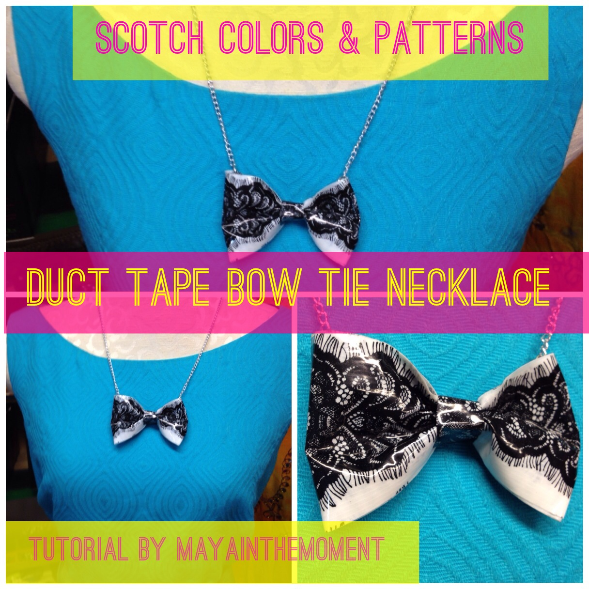 diy tape duct id necklace necklaces