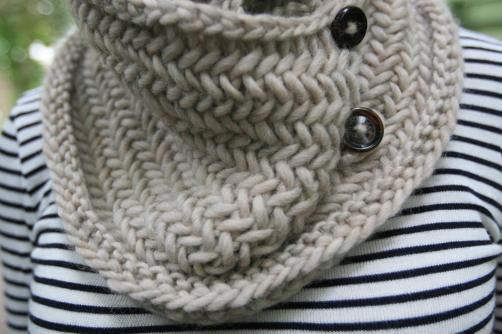 Knitting Stitch Patterns For Chunky Yarn : Elletrain knits tea latte cowl pattern