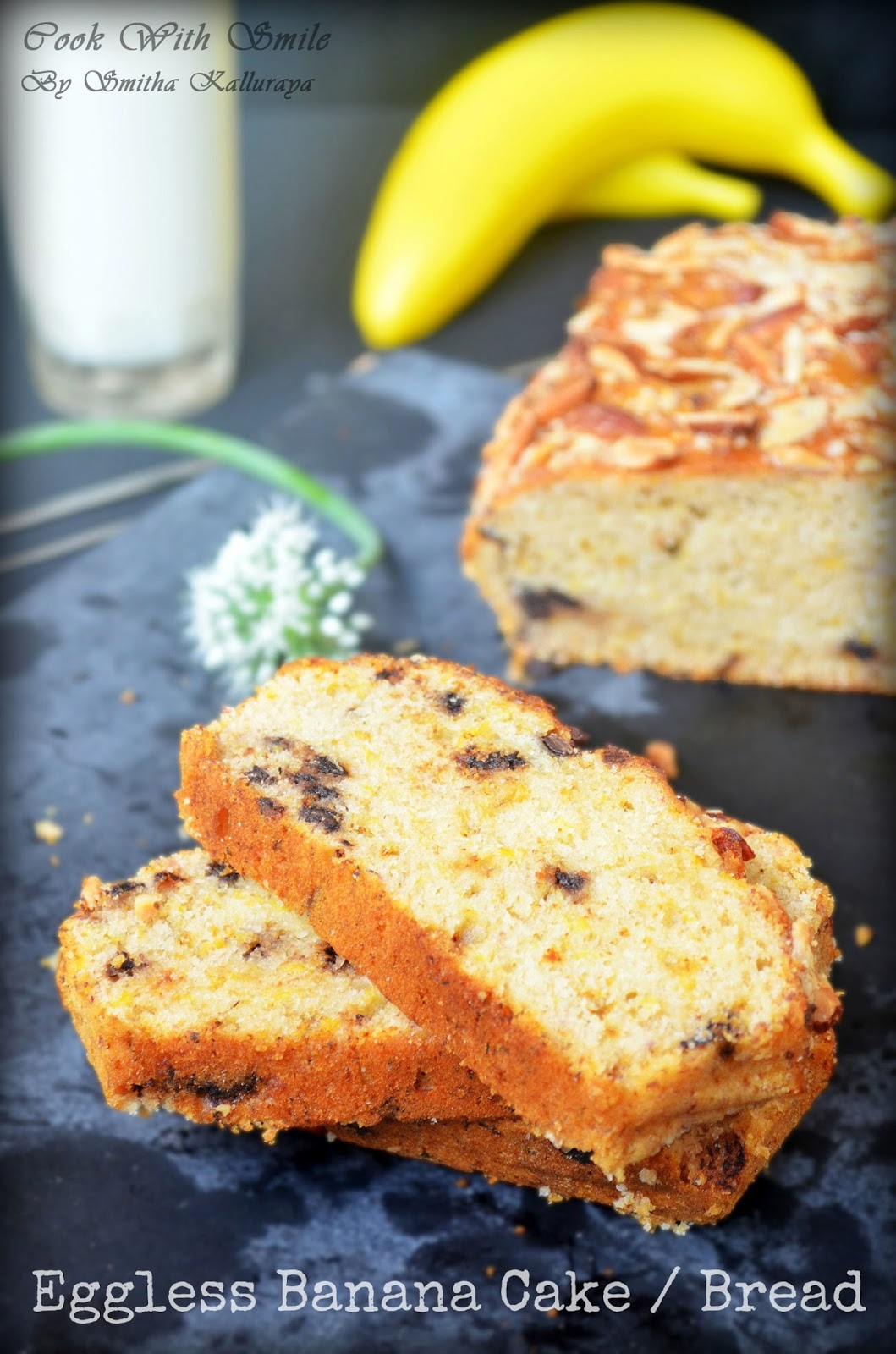 EGGLESS BANANA CAKE / EGGLESS BUTTERLESS BANANA BREAD ~ Cook With ...