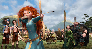 Merida shooting her bow