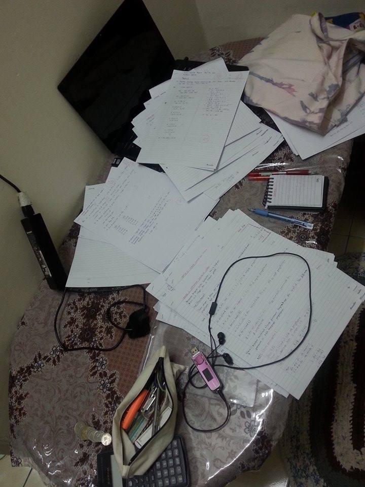 study week dah start dah!