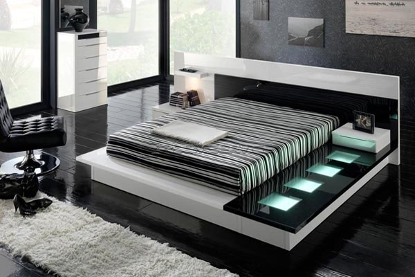 white modern bedroom furniture. White has an impact and show a flavor that is pleasing to the eye  while apart Furniture in black white wicker furniture offers refined comfort House Designs Black And Contemporary Modern Bedroom Sets